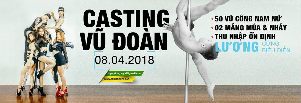 Thông báo tuyển dụng vũ công SaigonDance 2